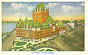 Chateau Frontenac Quebec Canada  Postcard p15128 1958 (Image1)