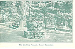Camp Kaneatke Warriors Mark PA  Postcard p15131 1940 (Image1)