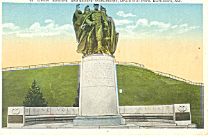 Union Soldiers Mounument,Baltimore, MD Postcard (Image1)
