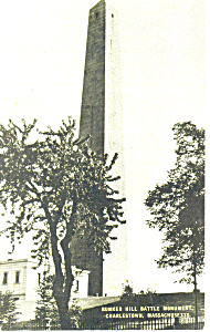 Bunker Hill Monument,Charlestown, MA Postcard (Image1)