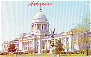 Little Rock AR State Capitol Postcard (Image1)