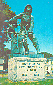 Fisherman s Memorial Gloucester MA Postcard p15168 (Image1)