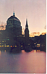 Boston MA  at Twilight Postcard p15169 (Image1)