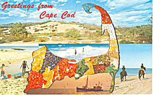 Greetings from Cape Cod Postcard 1980 (Image1)