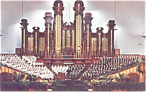 Salt Lake City Tabernacle Interior Postcard p1517 (Image1)