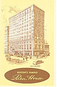 Parker House  Boston  MA Postcard p15189 (Image1)