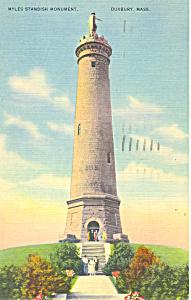 Myles Standish Monument, Duxbury, MA Postcard (Image1)
