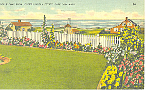Cockle Cove, Cape Cod, MA Postcard 1943 (Image1)