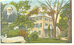 James Lowell Home,Cambridge, MA Postcard (Image1)