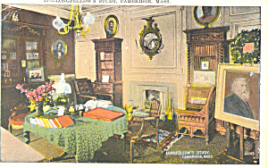 Study Longfellow's Home,Cambridge, MA Postcard (Image1)