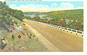 Highway along Cape Cod Canal, MA Postcard (Image1)