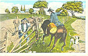 Paul Revere s Ride Boston MA Postcard p15237 (Image1)