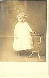 Cute Young Girl Vintage Postcard (Image1)
