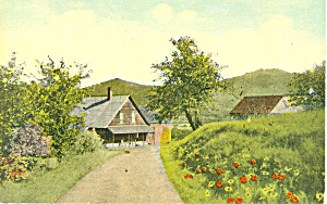 Farmhouse with Porch, Scenic Postcard (Image1)