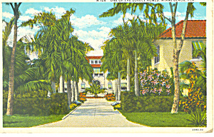 Lovely Home Miami Florida Postcard p15282 (Image1)