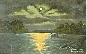 Moonlight Maple Island, Dowagiac,MI Postcard (Image1)