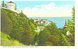 Block House, Mackinac Island,MI Postcard (Image1)