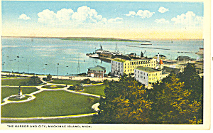 The Harbor, Mackinac Island,MI Postcard (Image1)