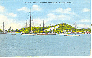 Lake Macatawa, Holland, MI Postcard (Image1)