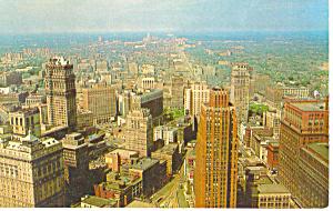 Bird s Eye View Detroit MI Postcard p15372 (Image1)