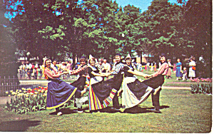 Dutch Klompin Dancing Holland,MI Postcard (Image1)