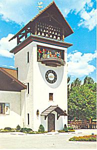 Glockenspiel Tower Frankenmuth MI Postcard p15380 (Image1)