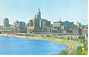 Skyline view of St Paul, MN Postcard  1958 (Image1)