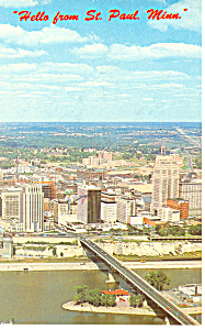 Greetings From St Paul, MN Postcard  1965 (Image1)