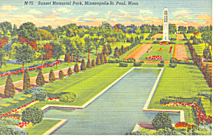 Sunset Memorial Park,St Paul,MN Postcard (Image1)