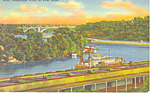 Mississippi River at St Paul,MN Postcard (Image1)