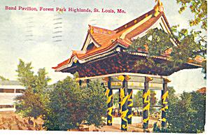 Band Pavilion St Louis MO Postcard p15423  1908 (Image1)