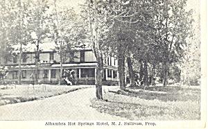 Alhambra Hot Springs Hotel Akansas Postcard p15433 (Image1)