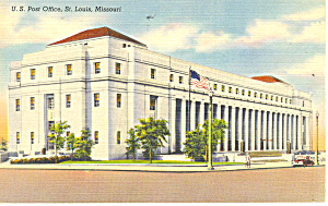 US Post Office,St Louis, MO Postcard 1943 (Image1)
