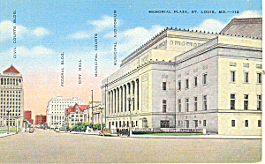 Memorial Plaza,St Louis, MO Postcard (Image1)