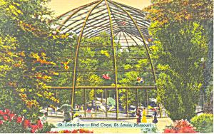 St Louis Zoo,St Louis, MO Postcard 1943 (Image1)