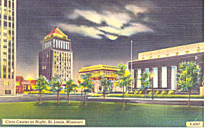 Civic Center,St Louis, MO Postcard (Image1)