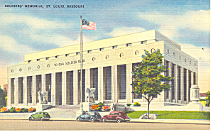 Soldiers Memorial,St Louis, MO Postcard (Image1)