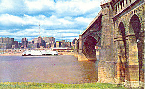 EADS Bridge,St Louis, MO Postcard 1959 (Image1)