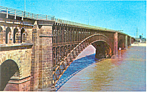 EADS Bridge St Louis MO Postcard p15461 1983 (Image1)