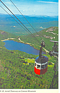 NH Aerial Tramway on Cannon Mountain Postcard p15476 (Image1)