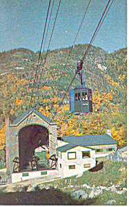 NH Aerial Tramway on Cannon Mountain Postcard p15486 (Image1)