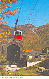 NH Aerial Tramway on Cannon Mountain Postcard (Image1)