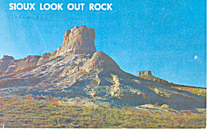 Sioux Look Out Rock, NE Postcard 1962 (Image1)