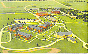 Boys Town, NE, Father Flanagan Boys Home Postcard (Image1)