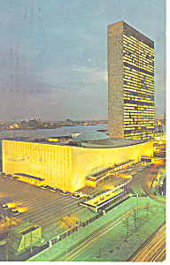 United Nations at Night Postcard  (Image1)