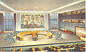 United Nations Security Council Chamber Postcard p15529 (Image1)