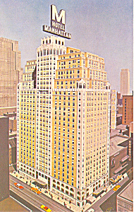 Hotel Manhattan New York City NY Postcard p15531 (Image1)