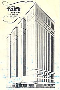 Hotel Taft  New York City NY Postcard p15532 (Image1)
