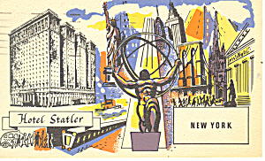 Hotel Statler New York City Ny Postcard P15535 1954