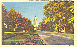 Lincoln,NE, Capitol Tower Postcard (Image1)